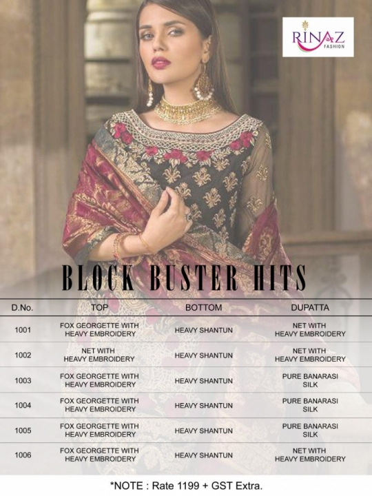Block Buster Hits by Rinaz Fashion Details