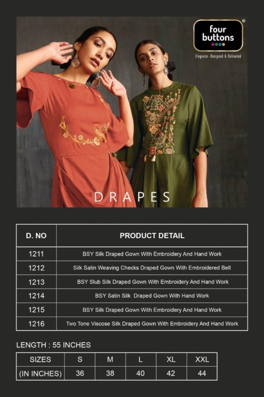 Drapes by Four Buttons Details