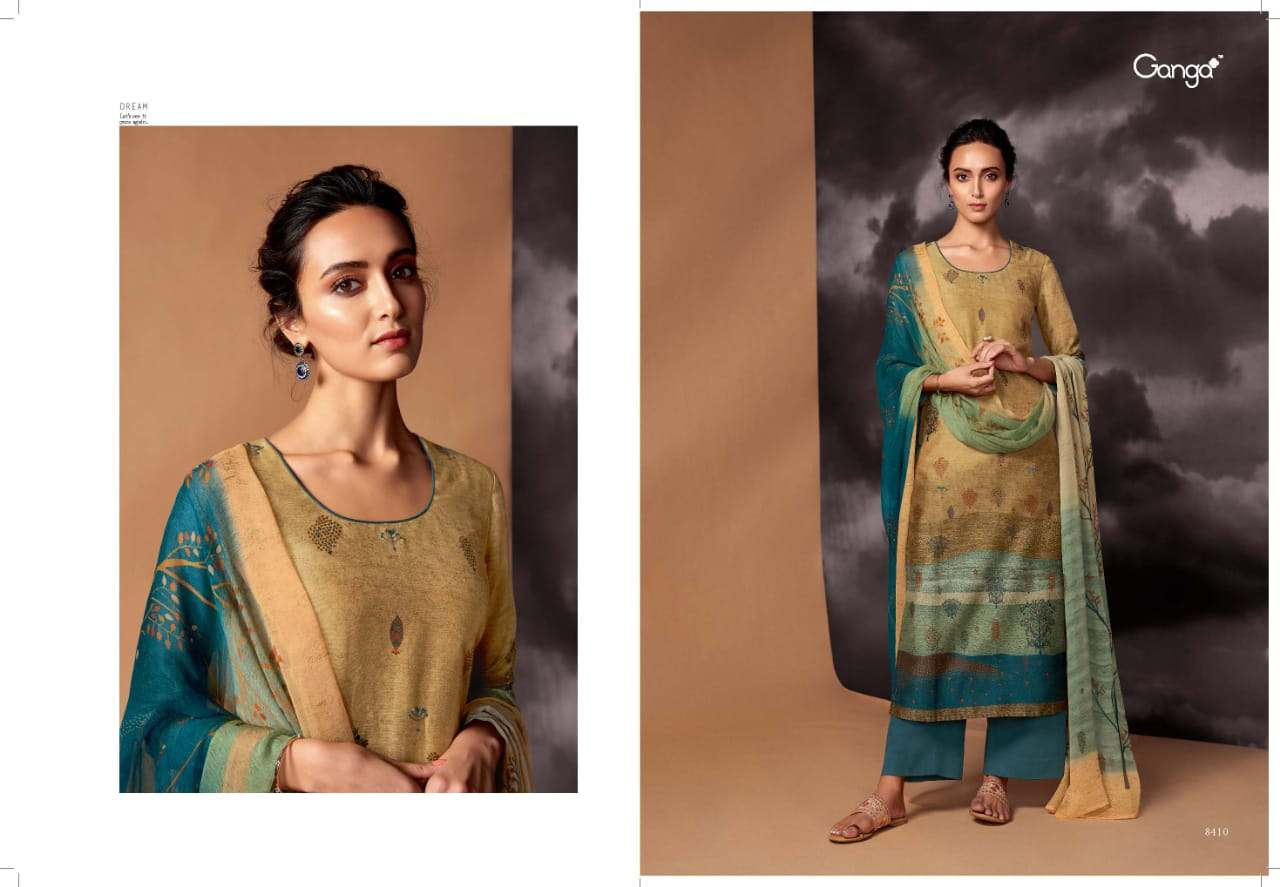 Dream By Ganga Fashion Beautiful Colorful Fancy Stylish Elegant Designer Dress Collection Ethnic Wear Collection Traditional Wear Indian Wear Handwork Pure Silk Dresses At Wholesale Price Kynoor Wholesale