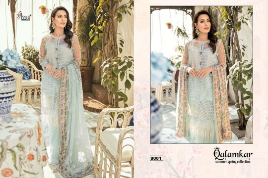Qalamkar Summer Spring Collection by Shree Fabs 8001