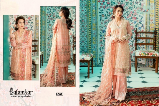 Qalamkar Summer Spring Collection by Shree Fabs 8002