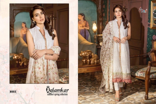 Qalamkar Summer Spring Collection by Shree Fabs 8003