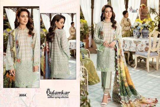 Qalamkar Summer Spring Collection by Shree Fabs 8004