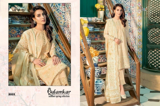 Qalamkar Summer Spring Collection by Shree Fabs 8005